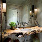 Отделка ванной в стиле рустик