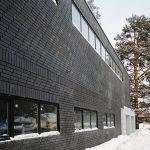 Фото 46: Отделка строения темной клинкерной плиткой