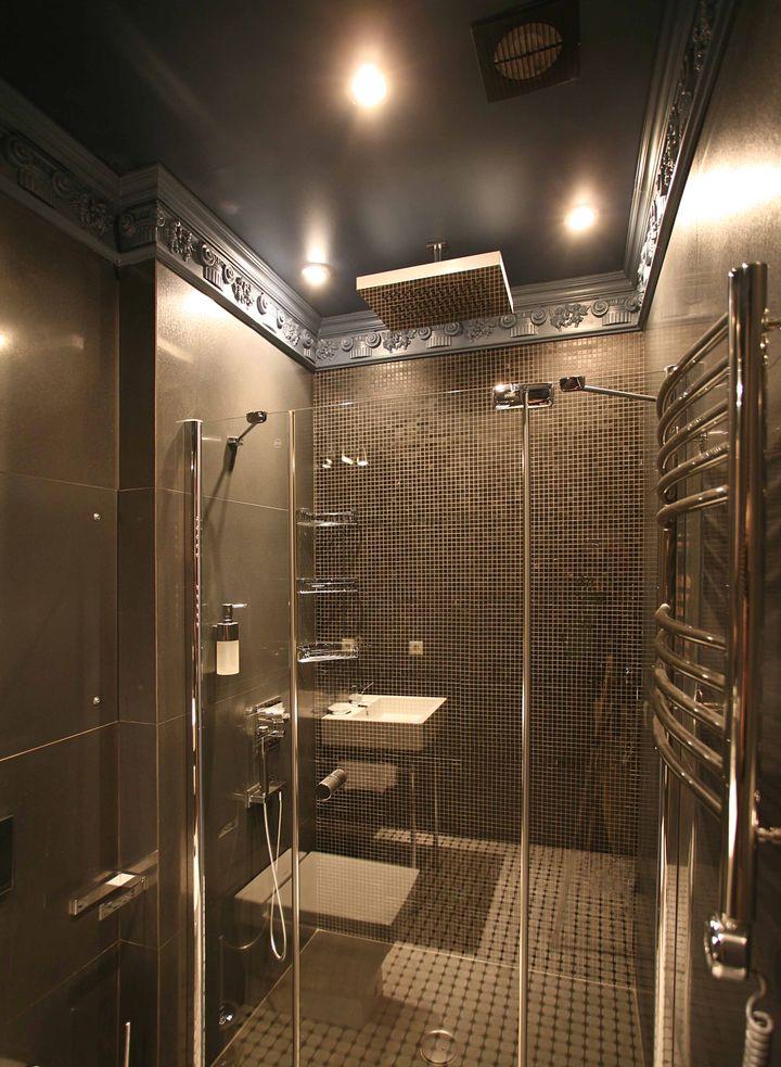 натяжные потолки в ванной 11