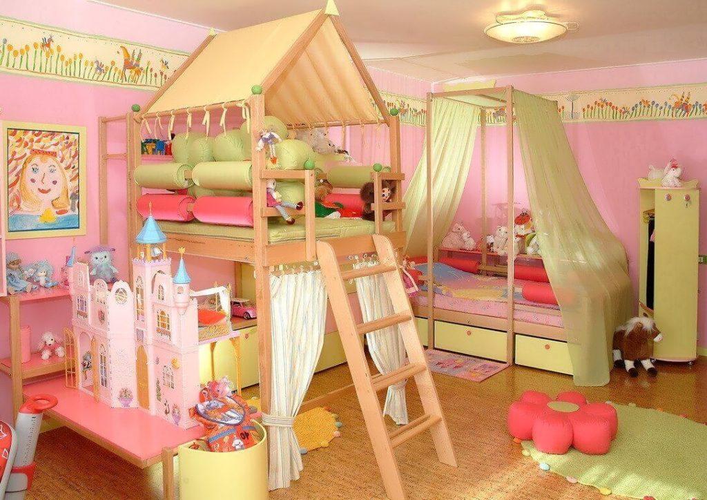 Комната для девочки – дошкольника