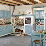 Фото 63: Кухня-студия в стиле прованс