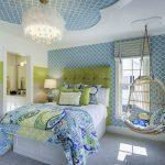 Фото 53: Зелено-голубая комната для девочек