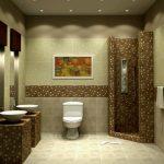 Фото 31: Сочетание фактуры плитки в дизайне ванной комнаты