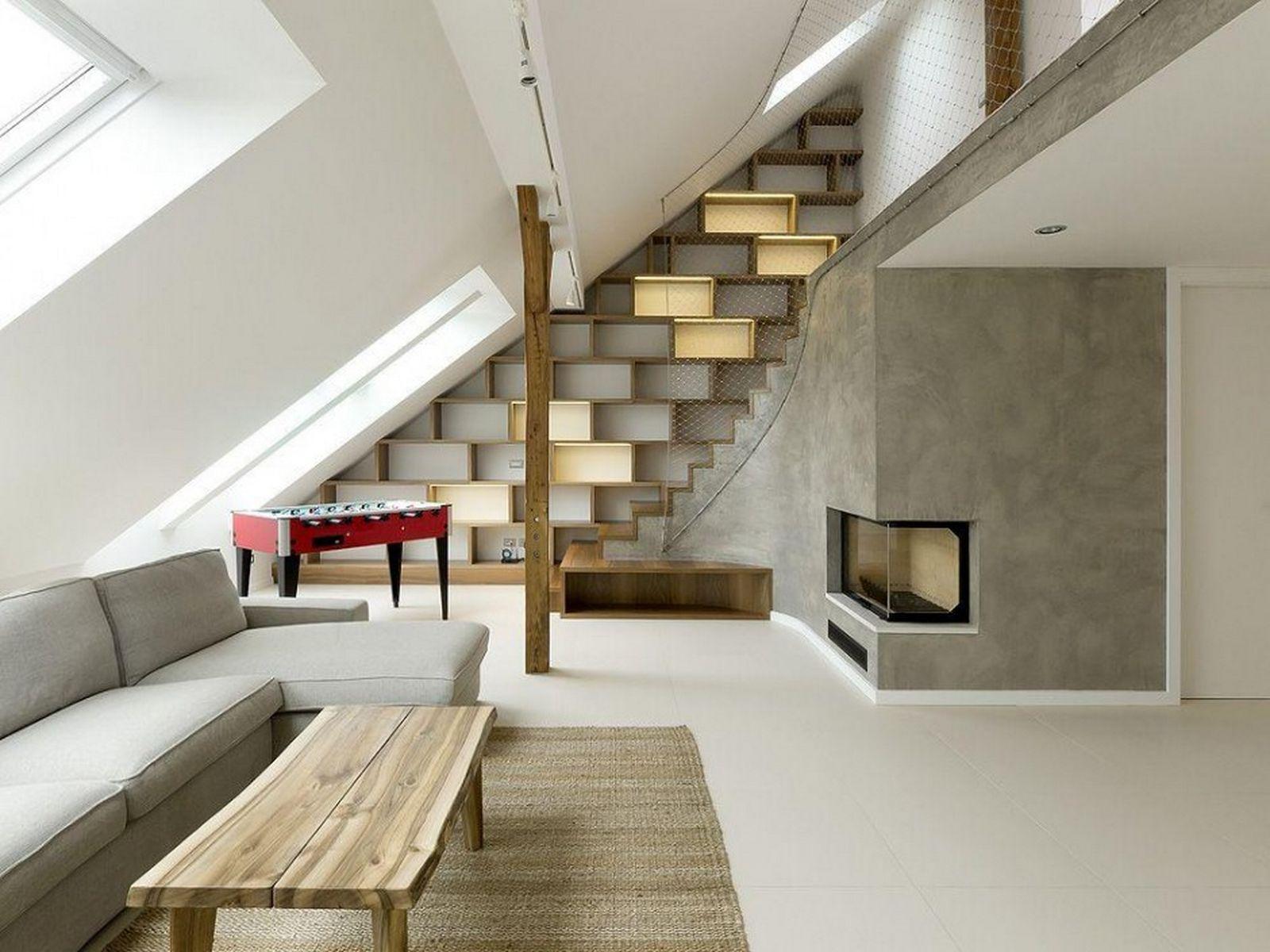 Дизайн мансардного помещения