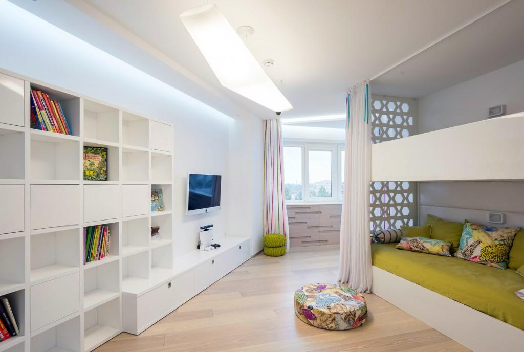 Детская комната для девочек в стиле хай-тек