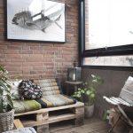 Фото 56: Использование паллетной мебели на лоджии