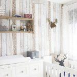 Фото 143: Деревянные стены в детской для новорожденных