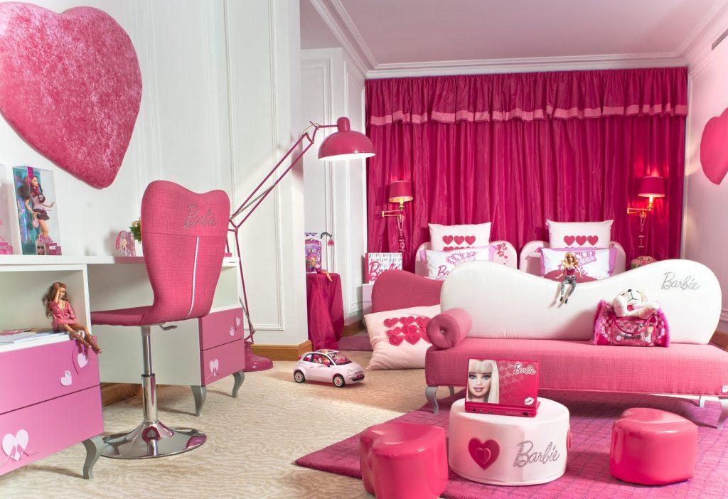 Детская комната в стиле Барби для девочек