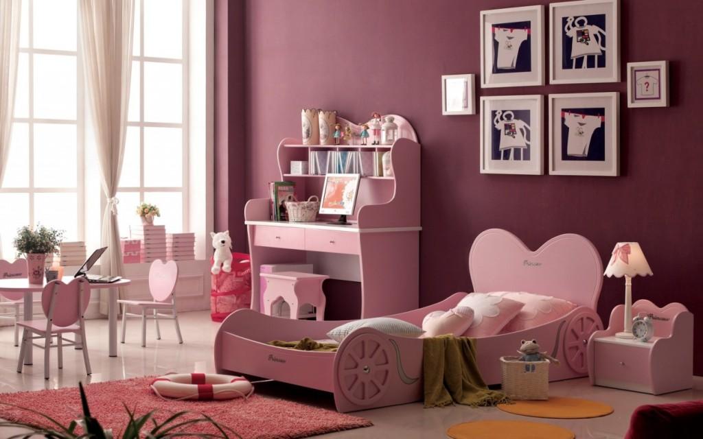 Комната для девочек с зонами