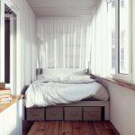 Фото 63: Кровать на лоджии