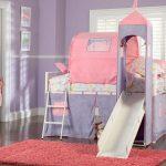 Фото 226: Кроватка с горкой и шатром для девочки