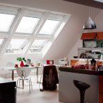 Фото 47: Кухня на мансарде