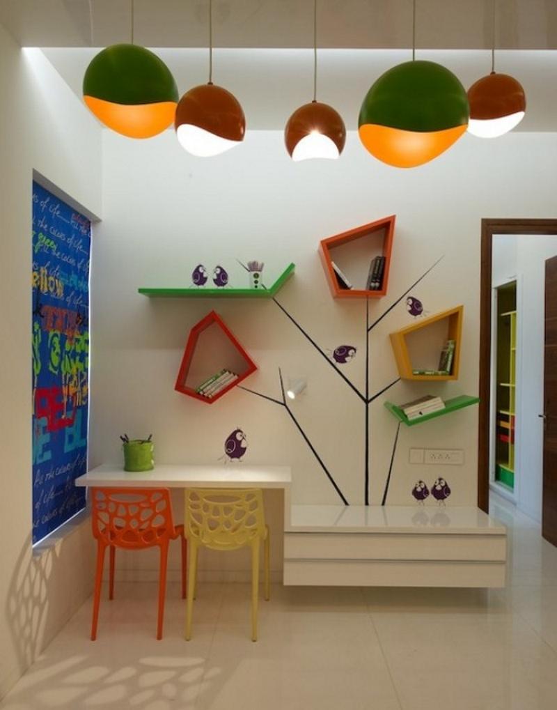 Пример дизайна детской комнаты в стиле модерн