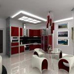 Фото 69: Освещение на кухне-гостиной
