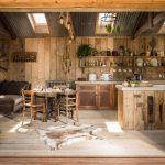 Фото 70: Кухня-студия в стиле рустик