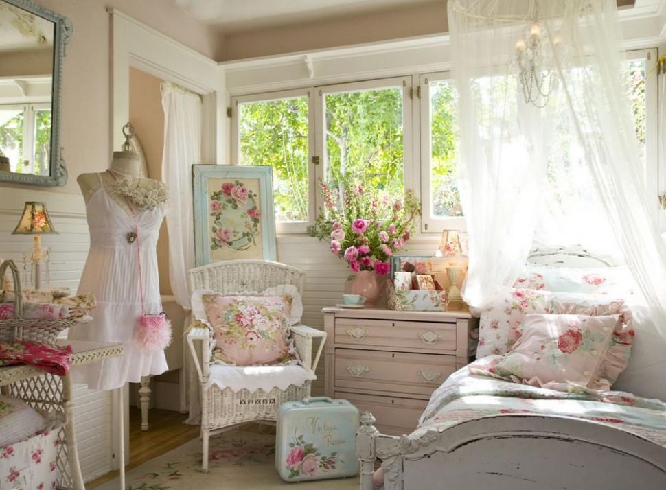 Детская комната для девочек в стиле шебби-шик