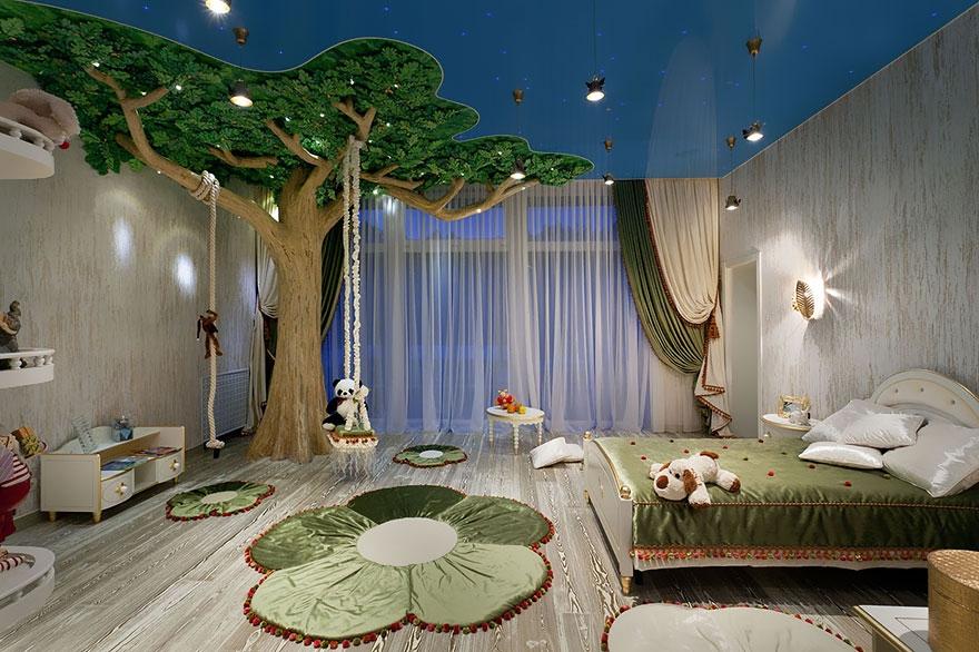 Детская комната в виде сказочного леса