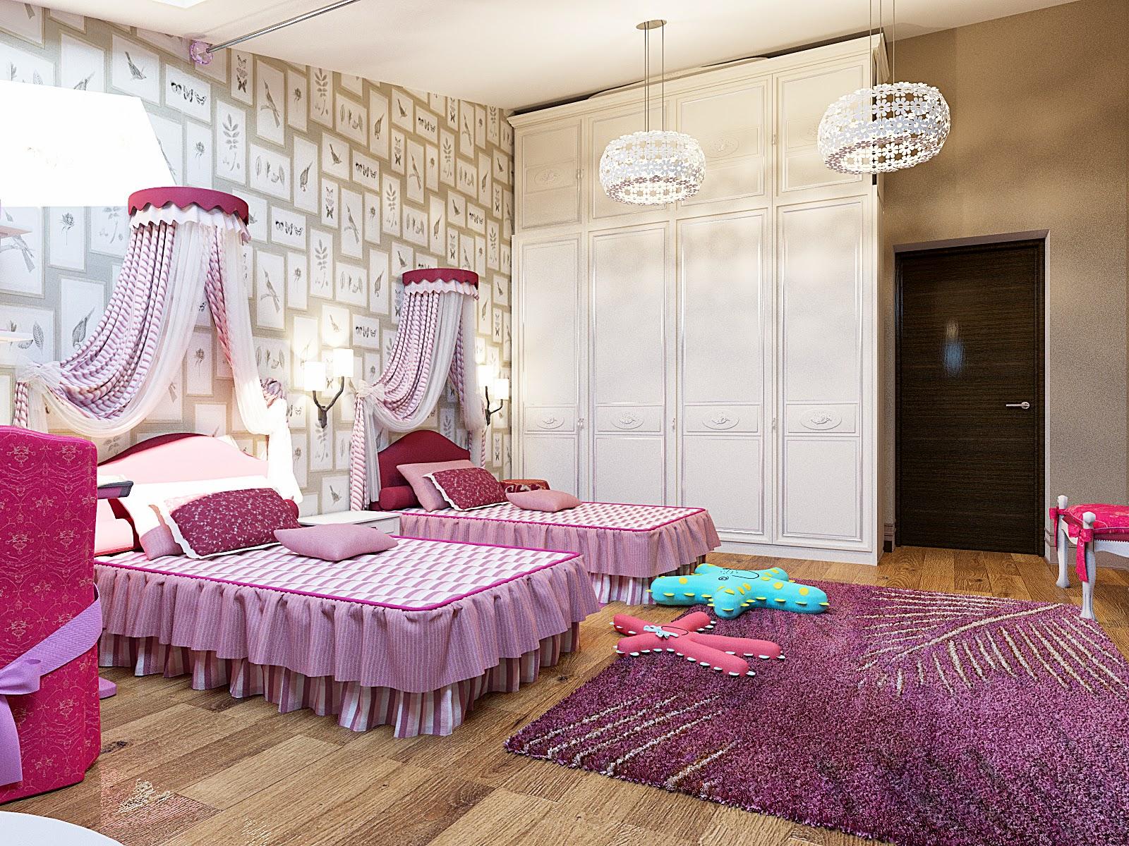 Комната для девочек в английском стиле