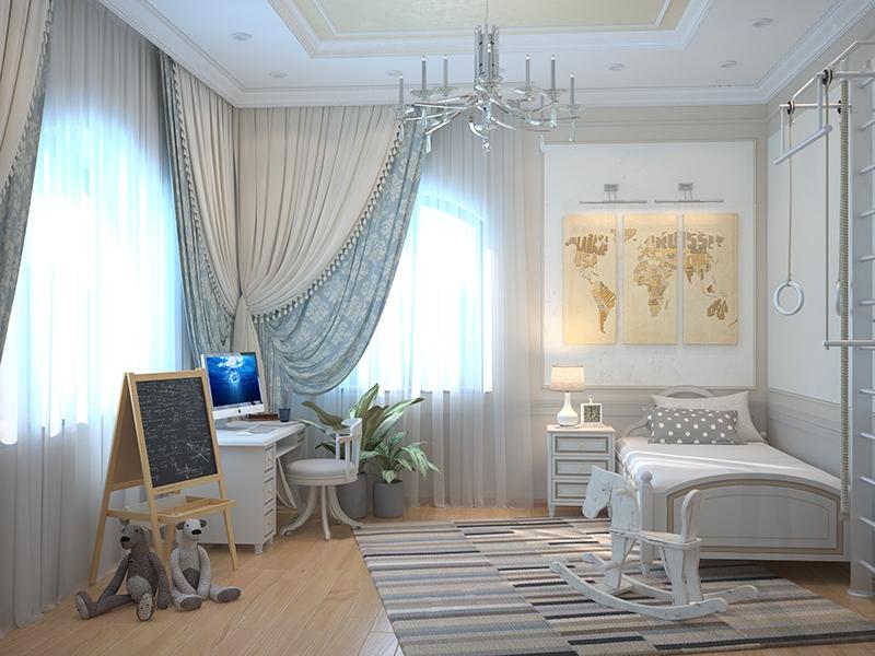 Комната для девочек в классическом стиле