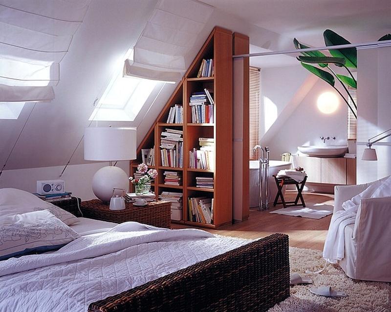 Фото дизайна комнат в мансарде