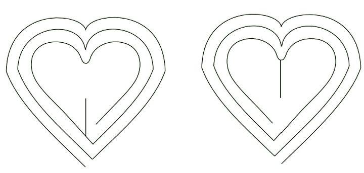 Схема вырезания сердец