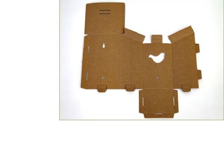Развертка картонного скворечника своими руками