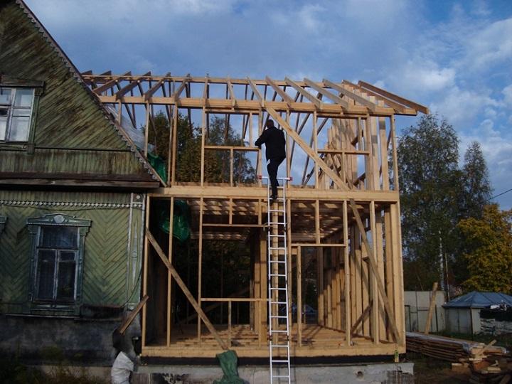 Деревянная каркасная пристройка к дому своими руками 190