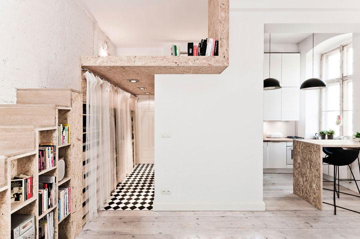 Однокомнатная квартира с высоким потолком