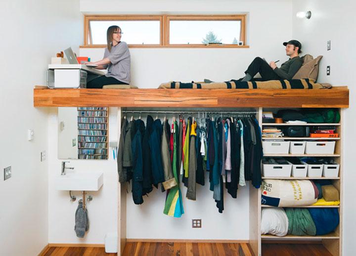 Интерьер однокомнатной квартиры: нестандартные решения