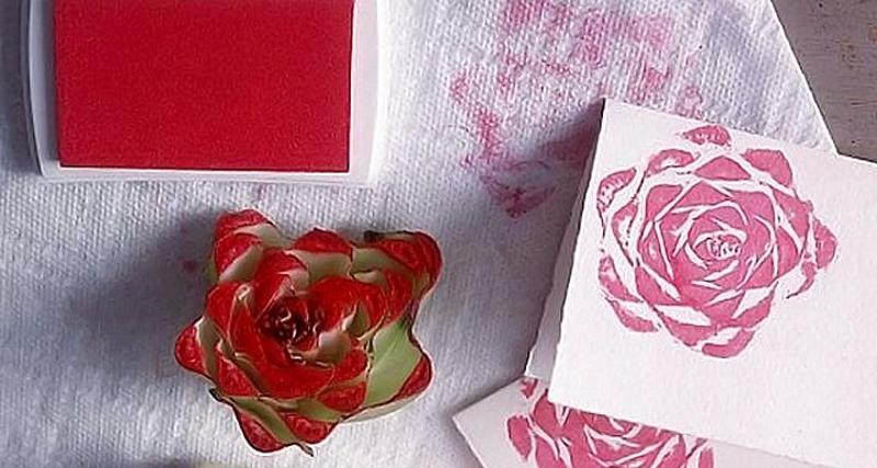 Цветочный штампик из капусты