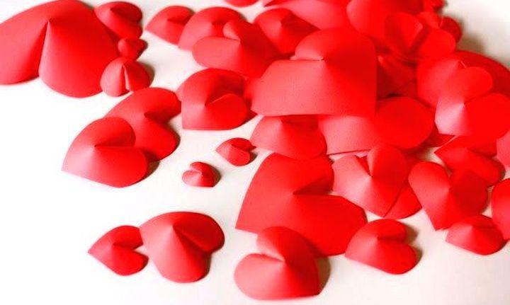 Объёмные сердечки