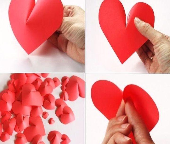 Процесс изготовления сердечек