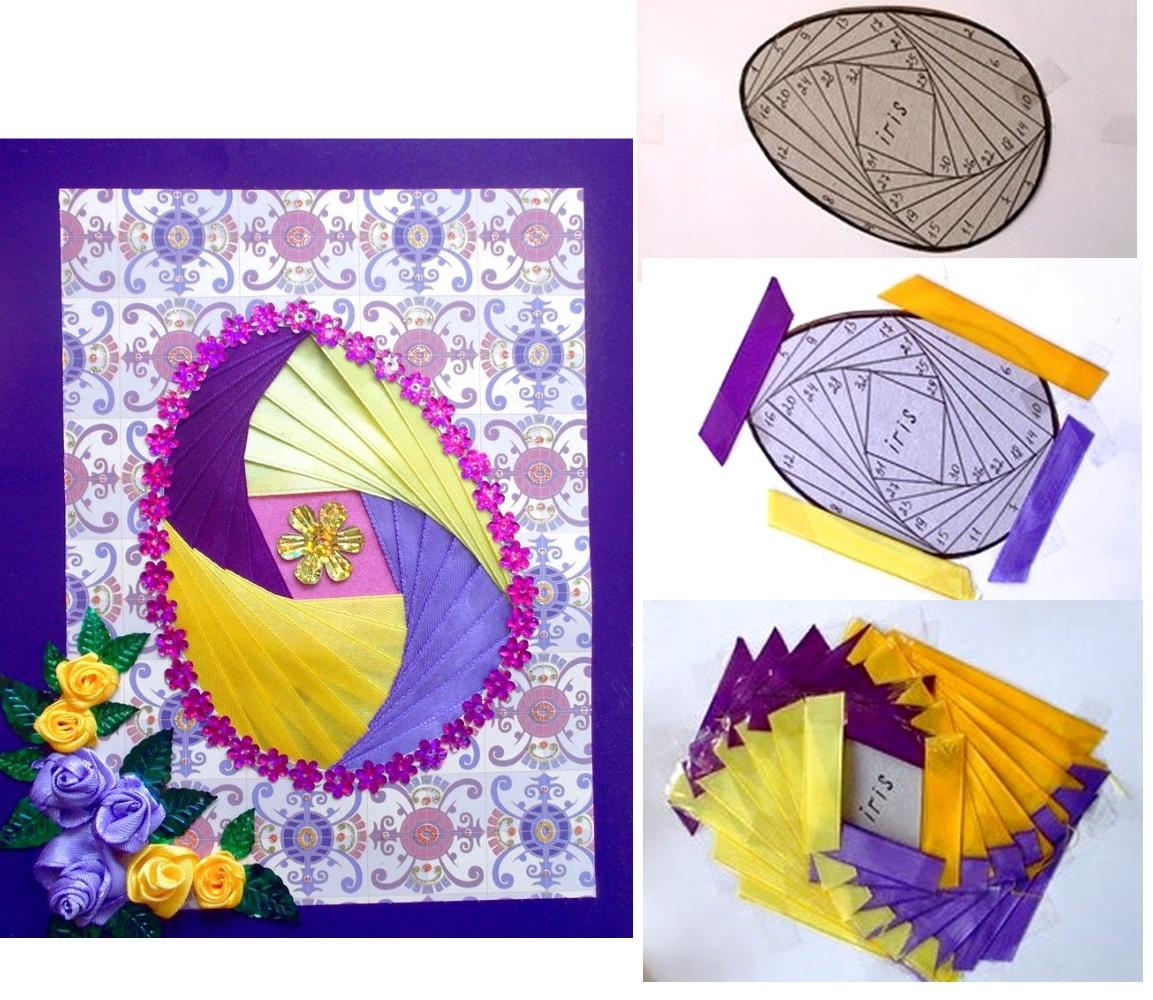 Изготовление открытки в технике айрис фолдинг