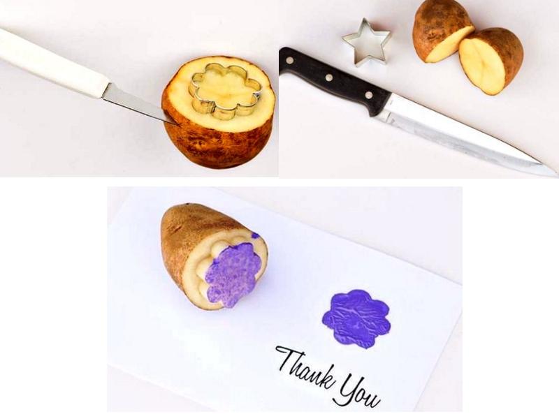 Штампы для открыток из картофеля