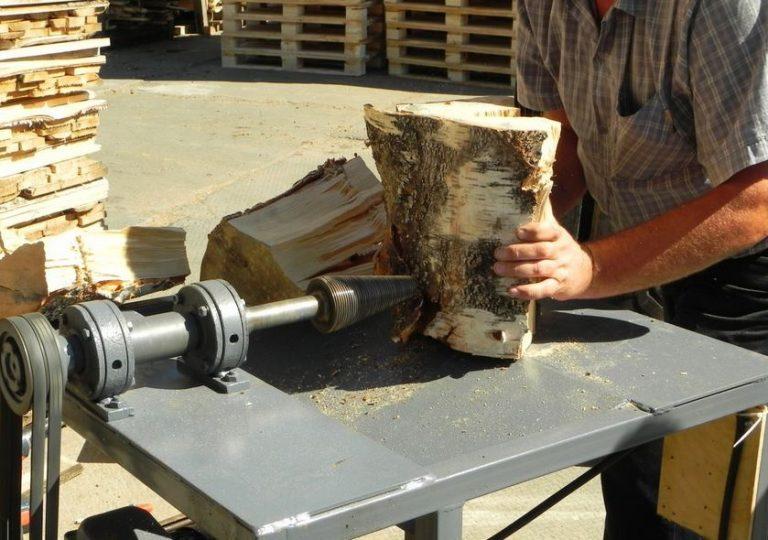 Колун механический для дров своими руками видео