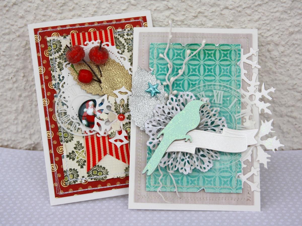 Новогодние открытки своими руками в технике скрапбукинг