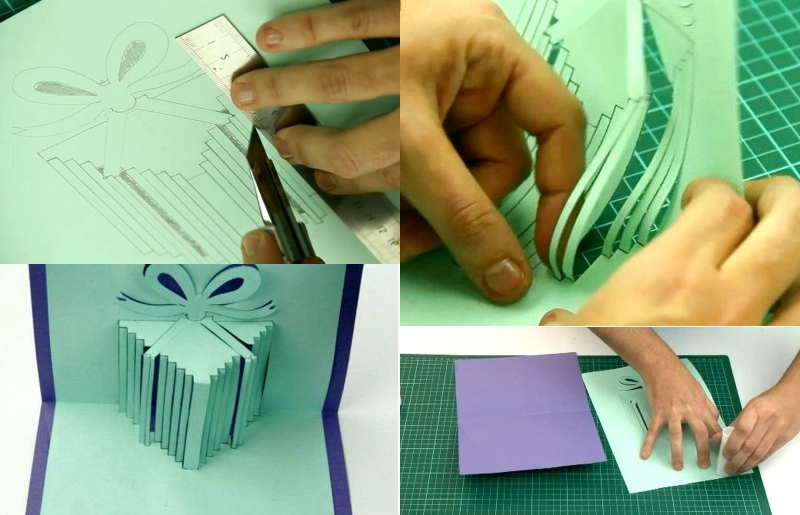 Изготовление объемной открытки с подарками своими руками
