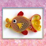 Фото 91: Рыбка в технике квиллинг