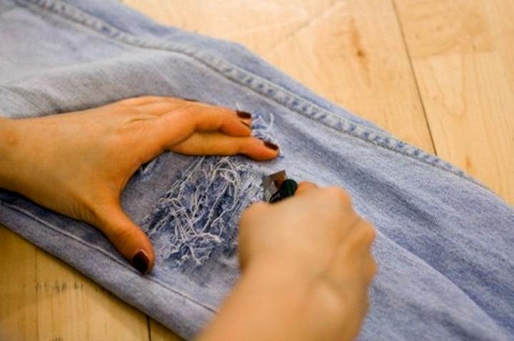 рваные джинсы своими руками (2)