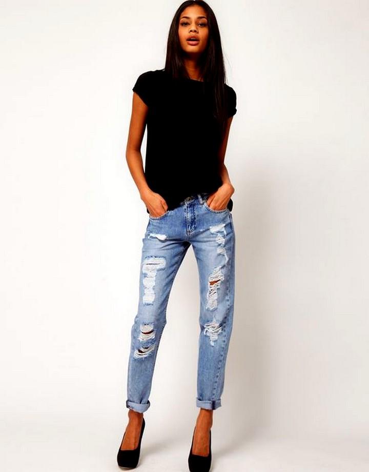 сочетание с рваными джинсами (2)