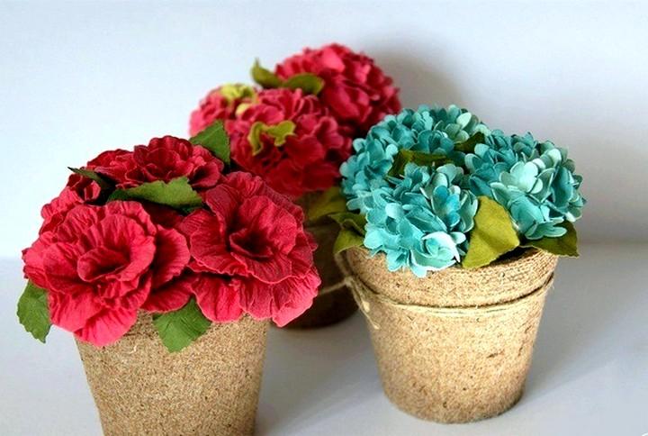 цветы из гофрированной бумаги (2)