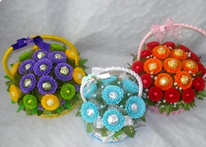 Цветы из гофрированной бумаги своими