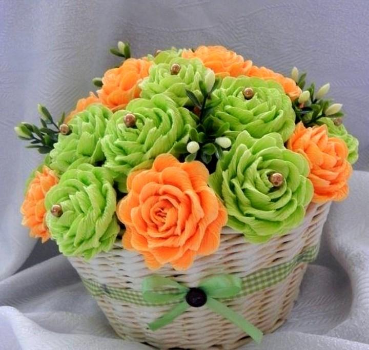 Цветы мастер класс из материала
