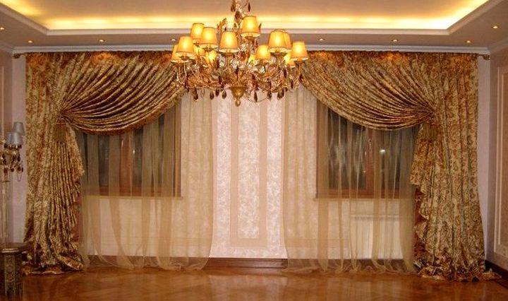 шторы дизайн для зала фото