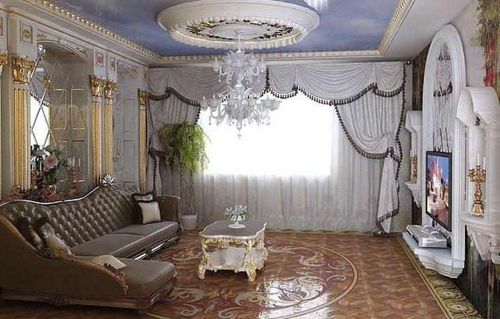 Белый цвет штор в интерьере комнаты