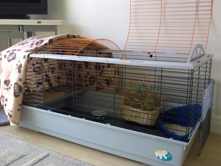 Клетка для кроликов для домашнего содержания