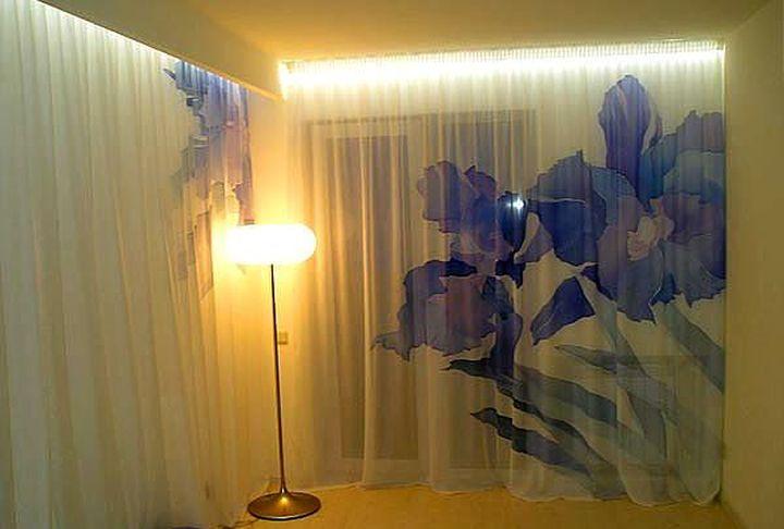 Роспись штор в стиле батик