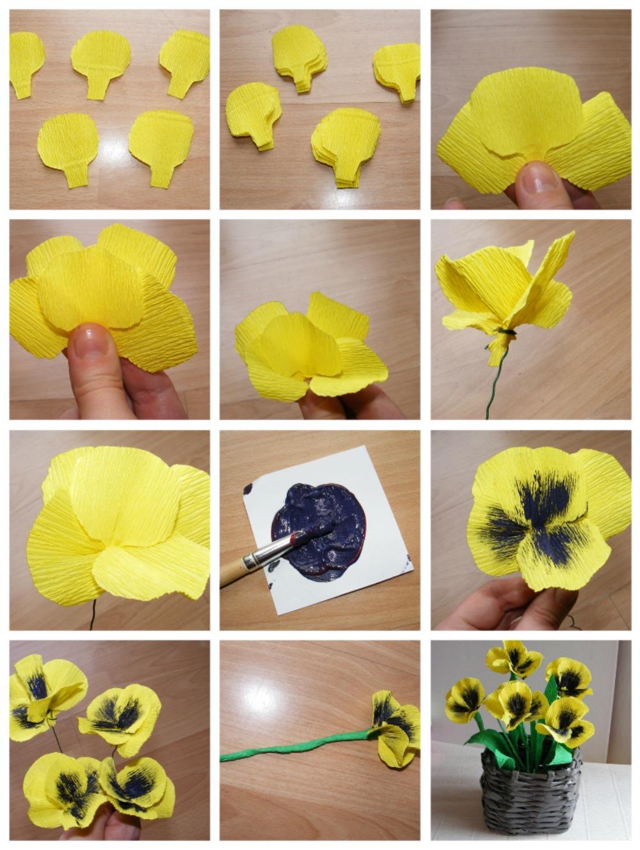 Поделки цветки своими руками из бумаги фото 27