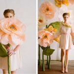 Фото 40: Большие цветы из гофрированной бумаги для фотосессии