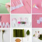 Фото 79: Цветок яблони из гофрированной бумаги
